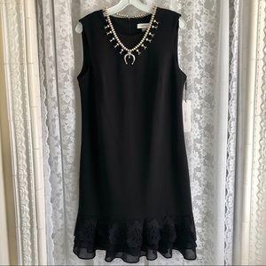 CALVIN KLEIN * NWT Black Flower Lace Dress